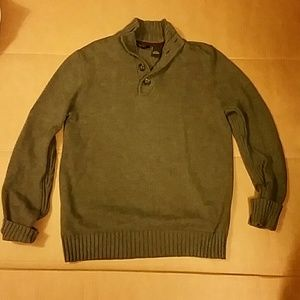 SeanJohn Gray Cotton Knit Sweater. L